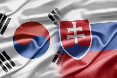 South Korea and Slovakia Stock Photo