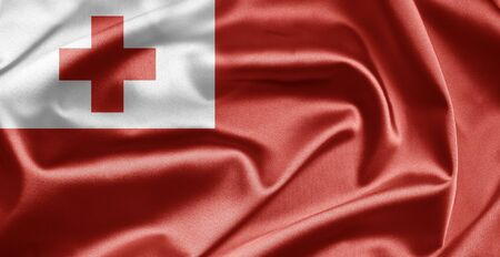 tonga: Flag of Tonga Stock Photo