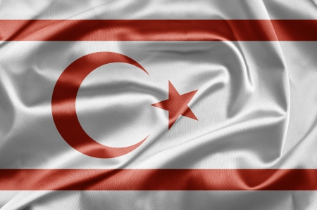 Flag of Turkish Republic of Northern Cyprus Stock Photo