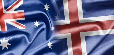 the icelandic flag: Australia and Iceland