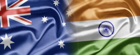 bandera de la india: Australia y la India Foto de archivo