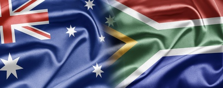 south african flag: Australia and South Africa
