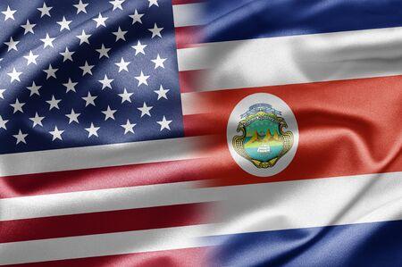 costa rica flag: USA and Costa Rica