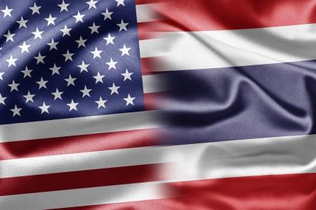 thai flag: USA and Thailand