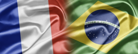 tricolour: France and Brazil