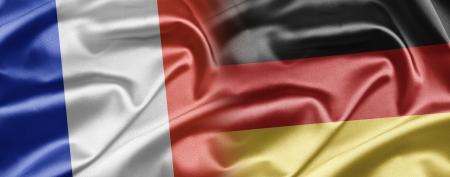 bandera francia: Francia y Alemania Foto de archivo