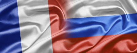 russian flag: France and Russia