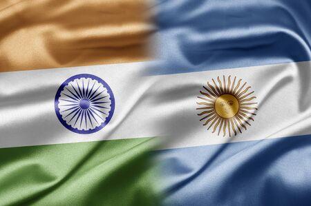 argentina flag: India and Argentina Stock Photo