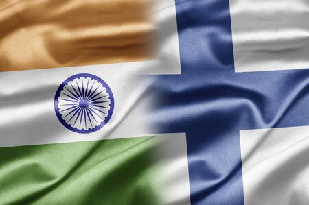 finland flag: India and Finland