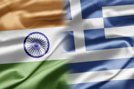 the greek flag: India and Greece