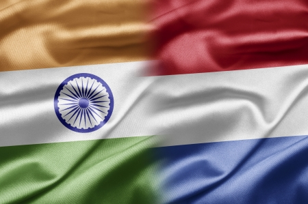 dutch flag: India and Netherlands Stock Photo
