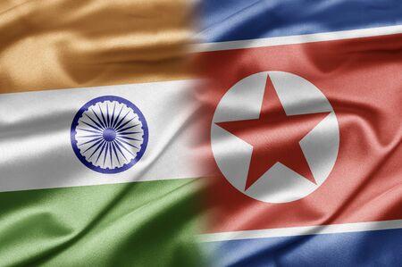 korea flag: India and North Korea