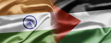 India and Palestine Stock Photo