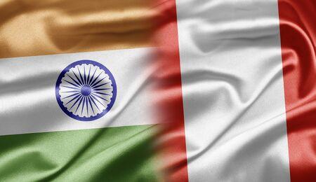 bandera peru: India y Per�
