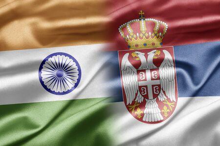serbian: India and Serbia Stock Photo