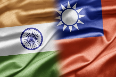 chinese flag: India and Taiwan