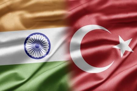 the turkish flag: India and Turkey