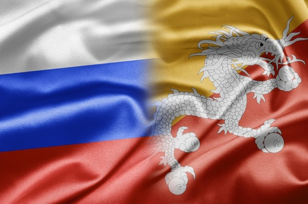 Russia and Butan Stock Photo - 15480428
