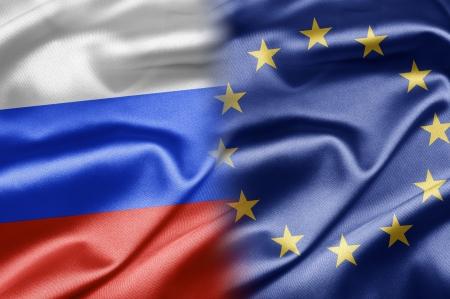 eu: Russia and EU Stock Photo