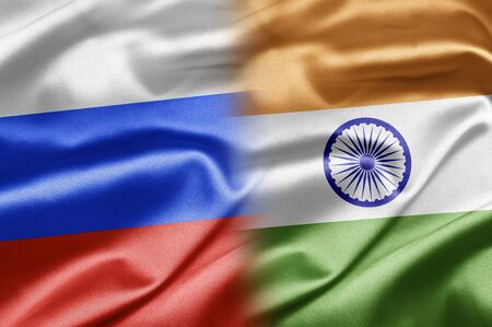 russian flag: Russia and India