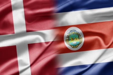 costa rican flag: Denmark and Costa Rica Stock Photo