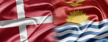 kiribati: Denmark and Kiribati Stock Photo