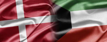kuwait: Denmark and Kuwait Stock Photo
