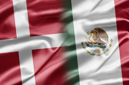 danish flag: Denmark and Mexico