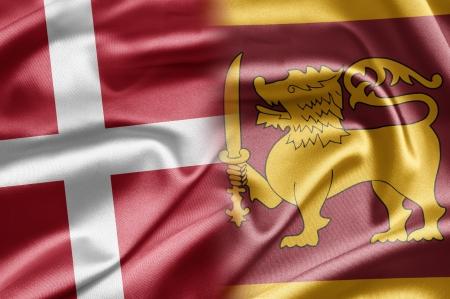 lanka: Denmark and Sri Lanka Stock Photo