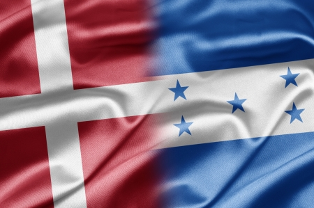 honduras: Denmark and Honduras Stock Photo