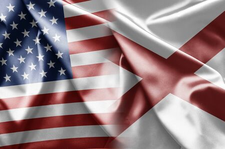 Flag of Alabama (USA) Stock Photo - 15932748