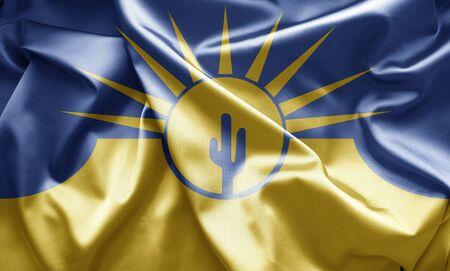 mesa: Flag of Mesa, Arizona   Stock Photo