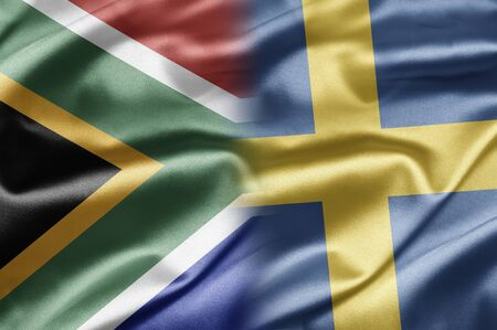 South Africa and Sweden Stock Photo - 17257350