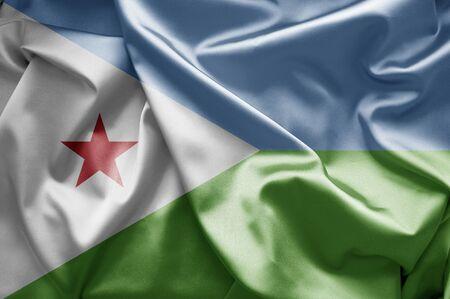 Flag of Djibouti Stock Photo - 17290626