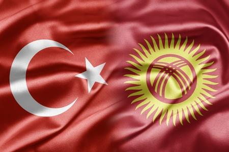 kyrgyzstan: Turkey and Kyrgyzstan Stock Photo