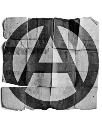 Anarchy sign on old paper. Stock Photo - 17463140