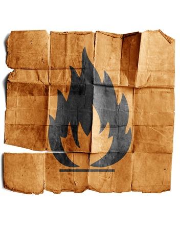 Fire Hazard warning symbol Stock Photo - 17463260