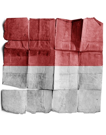 Indonesia flag on old paper. photo