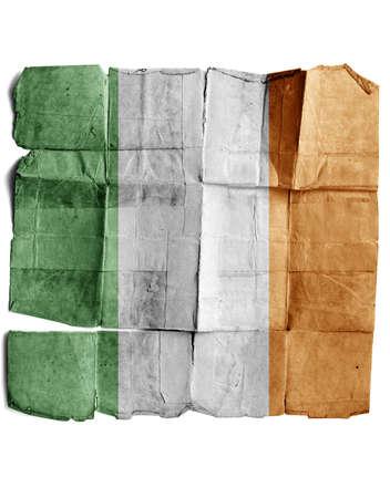 Ireland flag on old paper. Stock Photo - 17463141