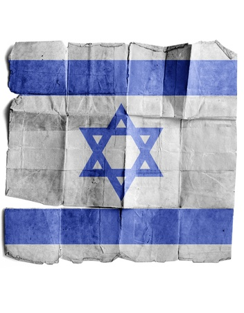 Israeli flag on old paper. photo