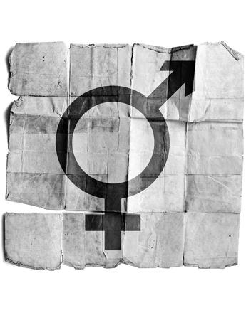 Male and female gender symbols Stock Photo - 17463143