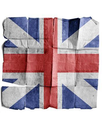 britan: British historical mark on the old paper. Stock Photo