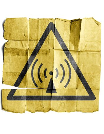 Radio waves hazard sign photo