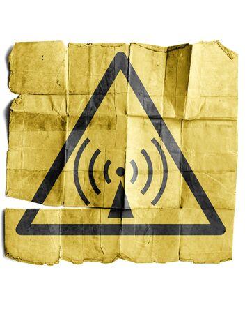 wep: Radio waves hazard sign