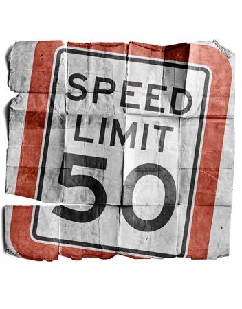 Speed limit 50 Stock Photo - 17463261