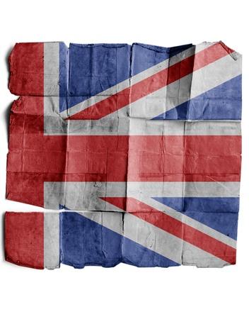 britan: British Flag on old paper. Stock Photo