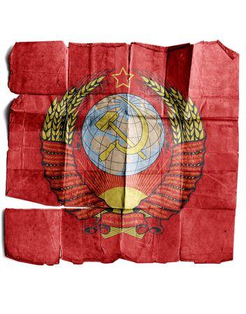 soviet flag: Soviet Flag grange Stock Photo