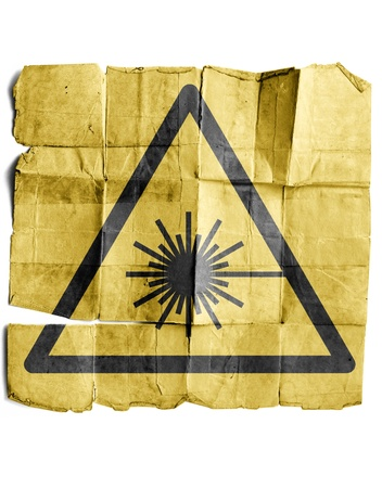 radiotherapy: Symbol for Laser warning sign
