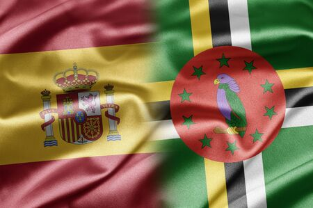 dominica: Spain and Dominica Stock Photo