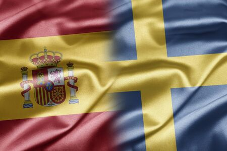 Spain and Sweden Stock Photo - 17518145